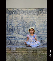 S Cathedral of Viseu (r.batista) Tags: portugal child cathedral rita posing s september famlia explore countries tiles azulejos viseu canoneos500d sigma18200mmf3563dcos ilustrarportugal