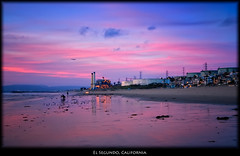 El Segundo, California (szeke) Tags: ocean california sunset usa beach water clouds landscape us losangeles unitedstates pacific manhattanbeach elporto daarklands