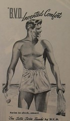 1950s BVD shirtless man vintage advertisement men's swim trunks Vintage Illustration Beach (Christian Montone) Tags: shirtless man men beach underwear 1950s swimtrunks vintageillustration vintageadvertisements