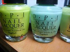 More light greens (ballekarina) Tags: nail polish opi