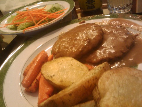 Roasted Vegetables and Swiss Steak
