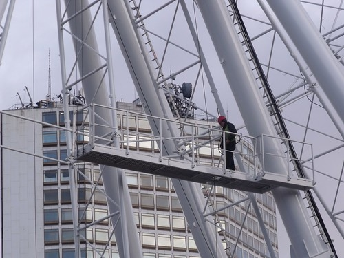 Birmingham Big Wheel - man at work