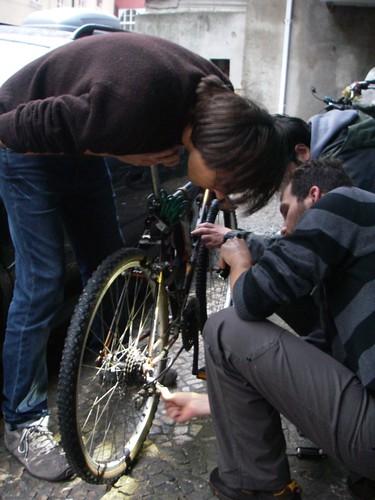 Aula de bicicleta!