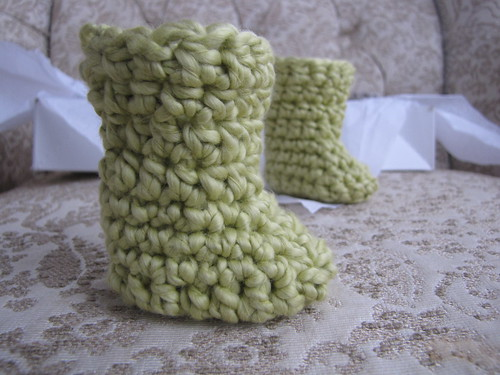 Organic cotton bootie