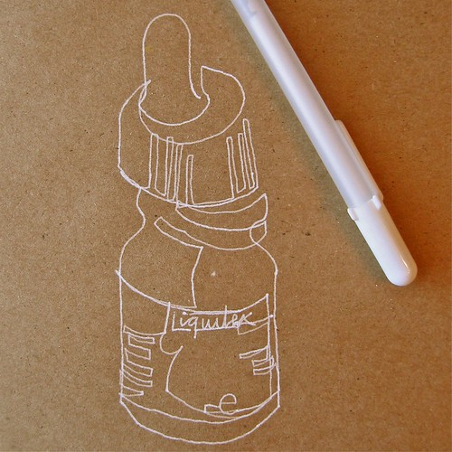 Blind Contour Bottle