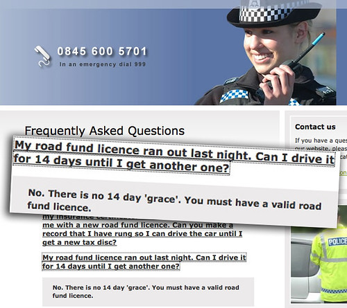 Scot Cops' Road Fund Boo-Boo