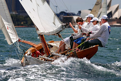 Racing season has started ..... (Bruce Kerridge) Tags: summer water sport race fun boat nikon sailing yacht sydney australia sail recreation weekly skiff sydneyharbour d80 18footskiffs plusten