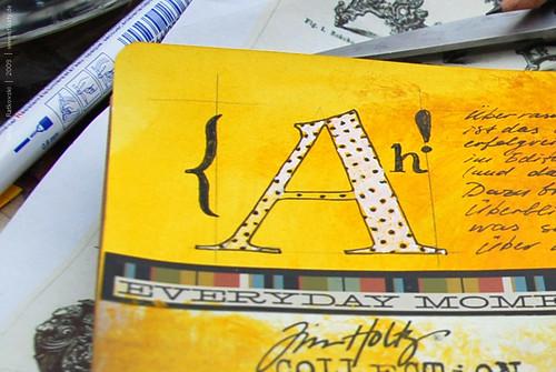Artbook typography