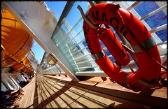 Magical Life Preserver (Scott Smith (SRisonS)) Tags: cruise guests ship magic disney caribbean eastern 2009 dcl lifeboats deck4 canonefs18135mmf3556is yellow99