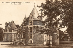 Bonnétable - Le Château - Vue d'Ensemble (pepandtim) Tags: chateau tree postcard guerre ww1 sepia old early 92bcv27 nietzche 1844 1900 rochefoucauld sarthe dolbeau lemans 1613 1680 hypocrisy greatwar grande bonnétable