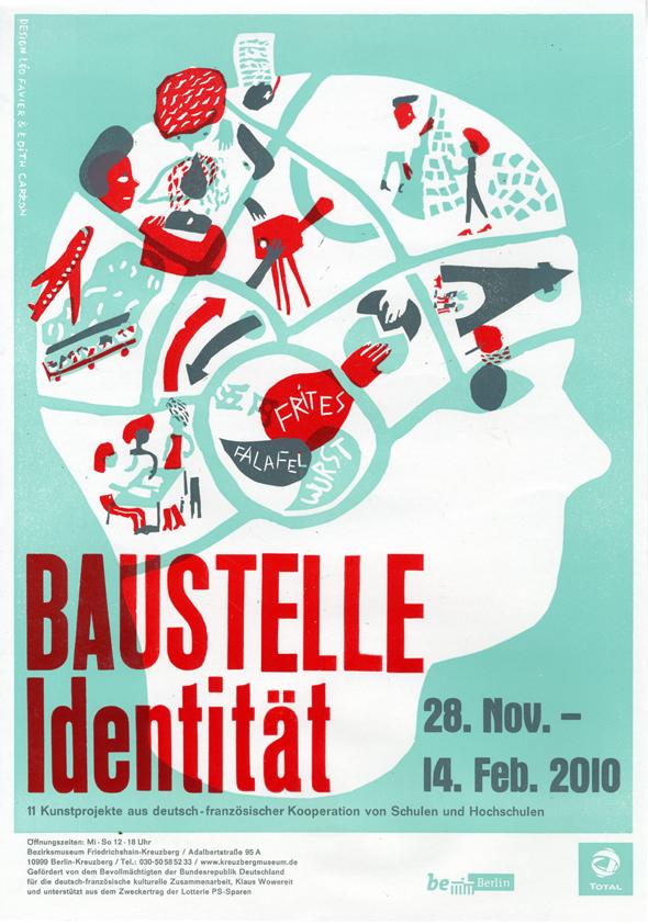 Plakat Baustelle Identitaet von Édith Carron und Léo Favier