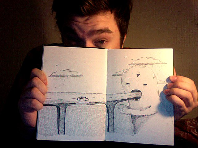 sketching at night