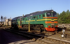 2M62-0321  Jelgava  04.06.08 (w. + h. brutzer) Tags: train eisenbahn railway zug trains latvia locomotive lokomotive lettland jelgava diesellok 2m62 eisenbahnen ldz dieselloks