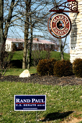 Rand Paul sign in California, Kentucky