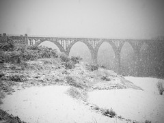 Pont de les 7 Llunes nevat