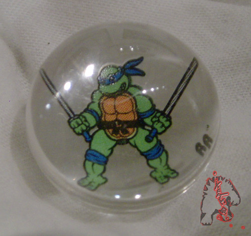 RAD ROLLERS,Collectable Action Marbles :: Teenage Mutant Ninja Turtles COLLECTION Series-1 // Leonardo  ((1991 ))