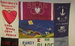 Aids Quilt Tile on Display... (Ozarks Red Cross) Tags: hiv aidsquilt redcross americanredcross ozarksredcross
