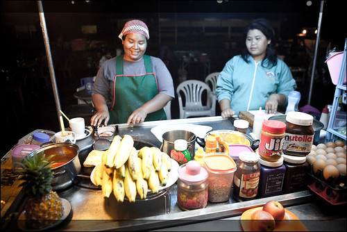 Making pancakes in Krabi night market