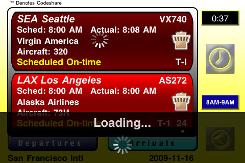 Flight Information iPhone App