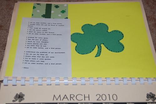 Adam's calendar gift - March