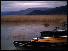 (maios) Tags: travel winter mountain lake water boat photo flickr ship foto photographer greece fotografia florina manikis maios iosif  prespes  heliography     abigfave            mikrolimni