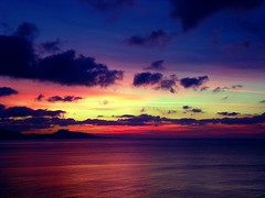 Shades of sunset ... (pantherinia_hd Anna A.) Tags: travel sunset sea vacation sky seascape beach colors clouds reflections landscape island colorful