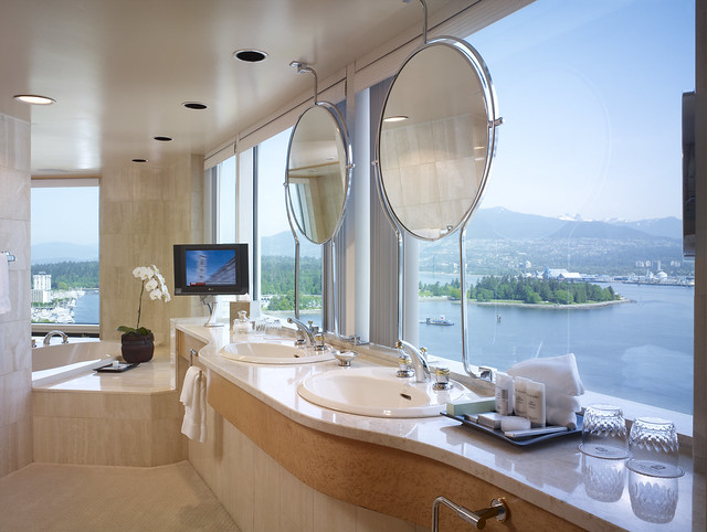 The Opal Suite Bathroom at the Pan Pacific Vancouver