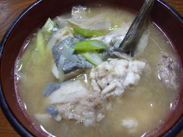 The miso soup of the Pacific cod
