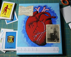 El Corazon Center Canvas: 4 (Terry.Tyson) Tags: art love collage painting mixedmedia loteria heartache voxsacramento loteriaart
