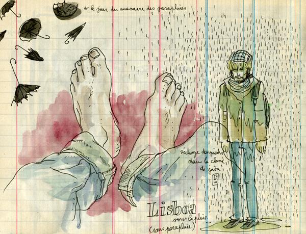 lisboa under the rain