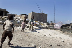 Children Play in Rubble of Haiti Quake