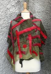 P1010249 (feltfieltrofilc) Tags: scarf linen wetfelted linenlace