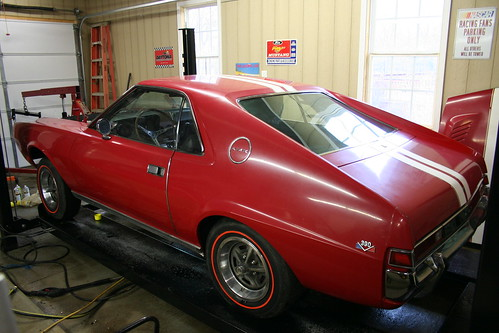 1969 AMC AMX engine bay restoration