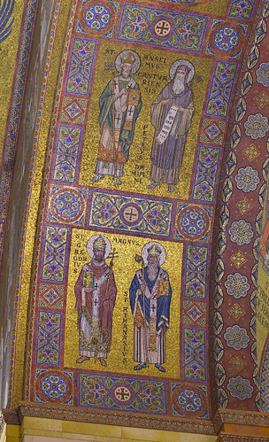 Cathedral Basilica of Saint Louis, in Saint Louis, Missouri, USA - mosaics of Doctors of the Church