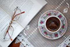 Kahve (morkedi ) Tags: book lace coffe spectacles pleasure turkishcoffee kahve dantel kitap 50mmf14d gzlk trkkahvesi keyif morkedi nikond80 alemdagqualityonlyclub morkedi