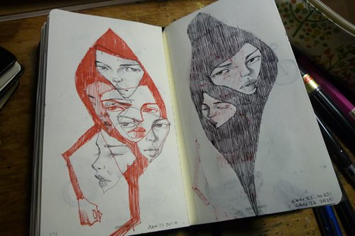 Sketchbook pages 2010 - part 3