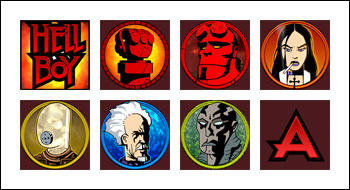 free Hellboy slot game symbols