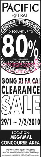 29 Jan - 07 Feb: Gong Xi Fa Cai Sale @ Pacific, Prai
