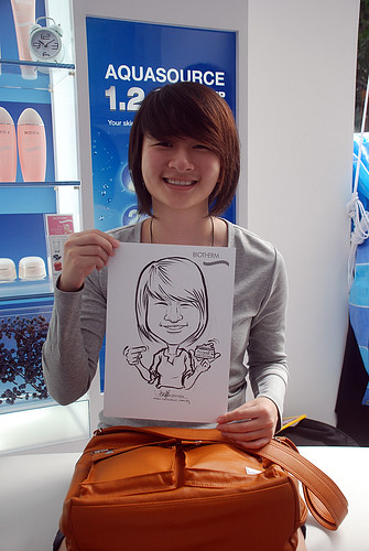 Caricature live sketching for Biotherm Roadshow Loreal - 17