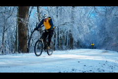 Epic Conditions (regularjoe) Tags: snow ice georgia mountainbiking epic gilmer lumpkin lx3 forestserviceroads fs42