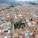 Cuenca: Vista aérea del Centro Histórico