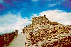Tuzigoot National Monument (Ted & John Koston) Tags: blue arizona cloud verde archaeology monument stone analog america desert native indian pueblo sedona az bluesky peoples valley firstnations archeology nationalmonument indigenous tuzigoot tnm