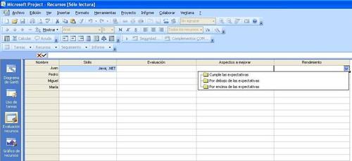 gedproDS evaluacion de recursos