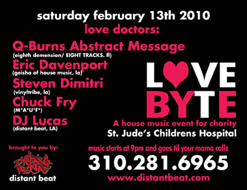 Saturday, February 13 - Love Byte in Los Angeles, CA