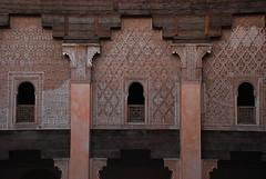 Detalle de la Madraza Ben Yusuf (MegaZoi) Tags: architecture arquitectura morocco arab marrakech escuela marruecos madraza coranicschool