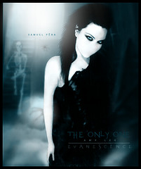# Amy Lee - The Only One (samuelpera) Tags: door music eye photoshop studio one open amy gothic lee only edition immortal samuel edio photofiltre pra