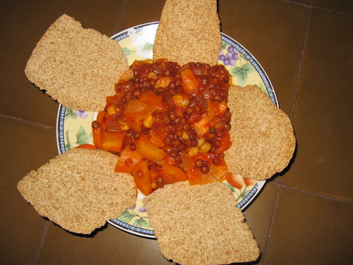 Veggies, Beans and Pita Chips