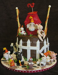 A farmyard Party! (Dot Klerck....) Tags: horse chicken cake southafrica pig cow sheep chocolate capetown dot farmyardparty cupcakesbydesign