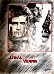 LETHAL WEAPON 1987 (omegaman 21) Tags: art film melgibson sketchbook pencildrawing dannyglover lethalweapon richarddonner hollywoodstars actionmovie