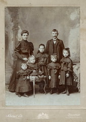 1905. My great-grandparents with their children (elinor04) Tags: family woman man fashion vintage children photo hungary photographer dress cabinet budapest group style ede card schmidt cloths 1906 hairstyle 1900s schmidtede vintagefamilyphotocollection elinorsvintagefamilyphotocollection hungariancollection